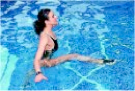 entrenando aqua running